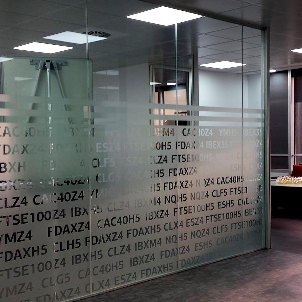 Interiores de oficina Vinilo Esmerilado